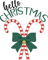 Hello Christmas print art