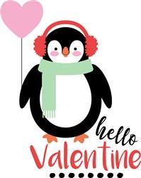 Hello Valentine print art