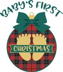 Baby First Christmas print art
