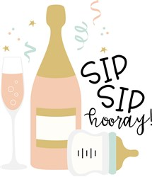 Sip Sip Hooray print art