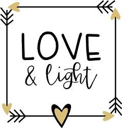 Love & Light print art