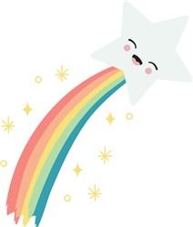 Rainbow Star print art