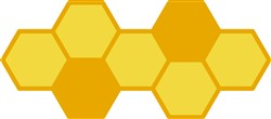 Honeycomb print art