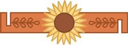 Sunflower Napkin Ring print art