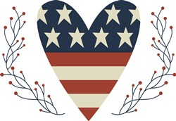 Fourth Of July Heart print art