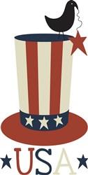 USA Top Hat print art