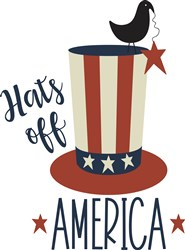 Hats Off America print art