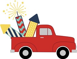 Fireworks Truck   print art