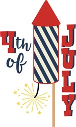 4th Of July Rocket print art