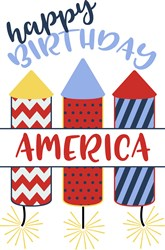 Happy Birthday America print art