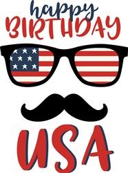 Happy Birthday USA print art