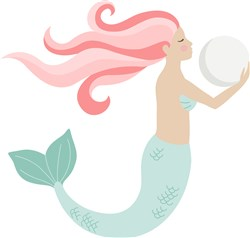 Mermaid & Pearl print art