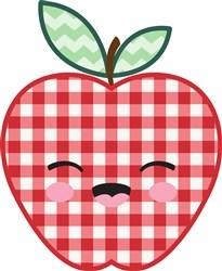 Gingham Apple print art