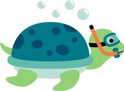 Snorkeling Turtle print art