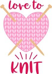 Love To Knit print art