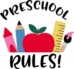 Preschool Rules print art