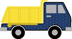 Dump Truck Applique print art