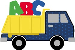 ABC Dump Truck Applique print art
