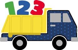 123 Dump Truck Applique print art
