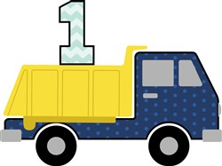 First Birthday Truck  print art
