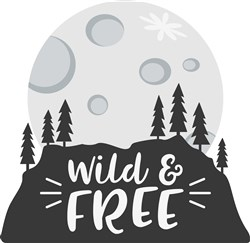 Wild And Free Silhouette Scene print art