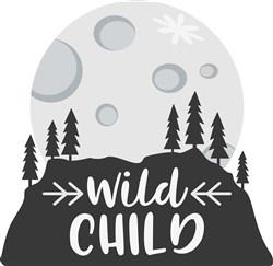 Wild Child Moutnain Silhouette print art