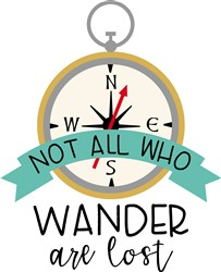 Not All Who Wander print art