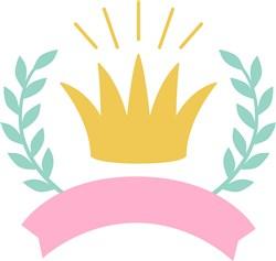 Princess Crown And Banner print art
