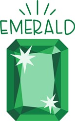 Emerald Birthstone print art