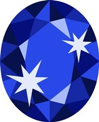Sapphire Birthstone print art