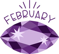 February Birthstone print art