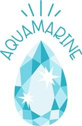 Aquamarine Birthstone print art