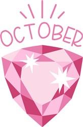 October Birthstone print art