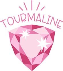 Tourmaline Birthstone print art