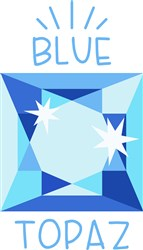Blue Topaz Birthstone print art