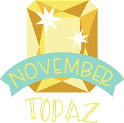 November Birthstone print art