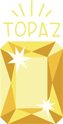 Yellow Topaz Birthstone print art