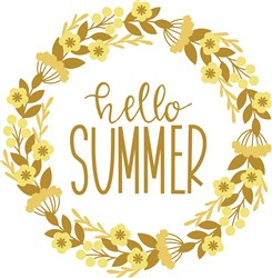 Hello Summer Wreath print art