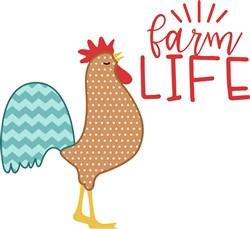 Farm Life Rooster print art