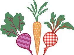 Root Vegetables Applique print art