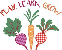 Play Learn Grow print art
