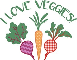 I Love Veggies! print art