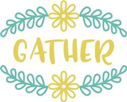 Gather Floral Fram print art