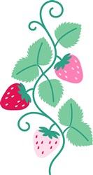 Strawberry Border print art