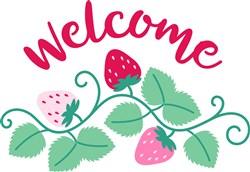 Welcome Strawberry Border print art