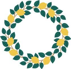 Lemon Wreath print art