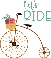 Lets Ride Bicycle print art