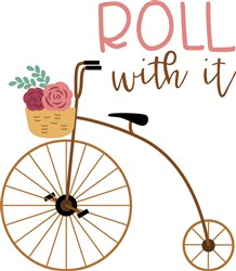 Roll With It Bicycle print art