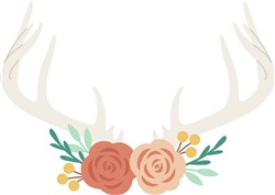Antlers And Roses print art