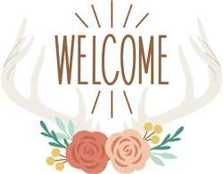 Welcome Antlers print art